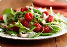 Raspberry Turkey Salad Recipe   this is amazing and so simple!
