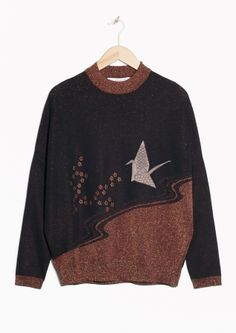 & Other Stories | Patchwork Glitter Knit