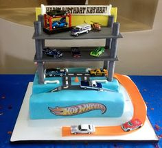 Car Garage Birthday Cake Image Inspiration of Cake and Birthday
