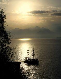 Romantic Sunset in Antalya (Türkey) by swetlanahasenjäger, via Flickr