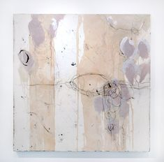 her entire body bent in the shape of a hook or swan, tying and untying    acrylic, oil and resin mixed media on panel  60x60