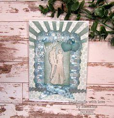 Blankina creations: Marianne Design challenge monochrome Marianne Design, Wedding Cards, Monochrome, Stencils, Goodies, Challenges, Frame, Home Decor, Wedding Ecards