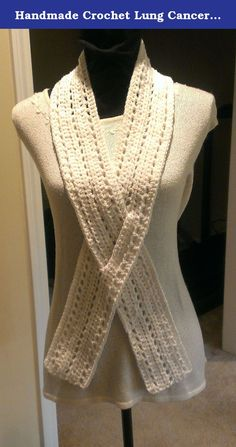 Handmade Crochet Lung Cancer, SCID, Awareness Ribbon Scarf. Lung Cancer, SCID Awareness Ribbon Scarf, crochet. Show your support with this 100% acrylic, handmade scarf. This scarf is very soft and comfortable. Children's sizes are available upon request. Hand wash, cold water. Lay flat to dry. This scarf measures approximately 4 inches x 48 inches. All items are hand made in a smoke free home. If you would like to see a specific color, please feel free to contact me…