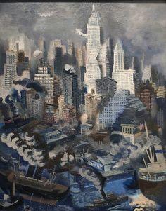 George Grosz: Lower Manhattan, c.1934.