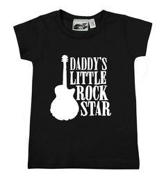 Daddy's Little Rock Star Black T-shirt