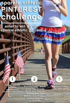 Wanna win a $100 gift card for Sparkle Athletic?! Check out their #4thOfJulyRunningGear Pinterest Challenge! All of the details can be found on here: https://www.facebook.com/SparkleAthletic/app/199909830142802. #TeamSparkle