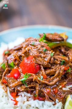 Syn free cuban beef (ropa vieja) slimming healthy recipes in 2019 Slow Cooker Slimming World, Slimming World Dinners, Slimming World Recipes, Slimming Eats, Healthy Work Snacks, Healthy Eating, Healthy Recipes, Tasty Meals, Healthy Dishes