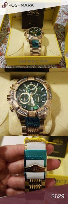 New, authentic, in original box Invicta INVICTA MEN'S 25869 BOLT QUARTZ CHRONOGRAPH GREEN DIAL WATCH Invicta Accessories Jewelry