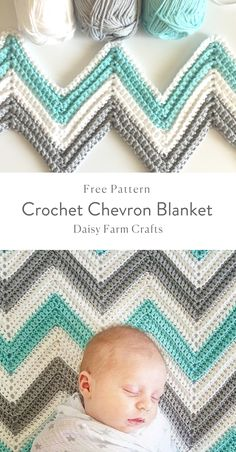 The Simple Chevron Baby Blanket crochet pattern is quick, super simple, and free! A perfect last minute baby shower gift that is also easy to customize! Simple Chevron Baby Blanket Crochet Pattern via Sigoni Macaroni Crochet Afghans, Crochet Ripple Blanket, Crochet Quilt, Crochet Bebe, Afghan Crochet Patterns, Crochet Gifts, Chevron Crochet Blanket Pattern, Chevron Baby Blankets, Chevron Blanket