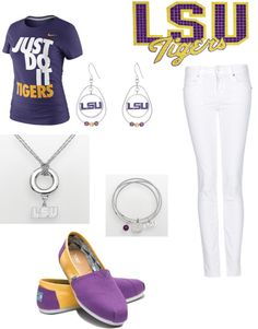 """""""LSU"""" by neelys on Polyvore"""