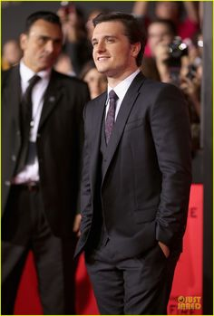 Josh Hutcherson at the premiere of The Hunger Games: Catching Fire at the Nokia Theatre in Los Angeles, CA on 11/18/13.