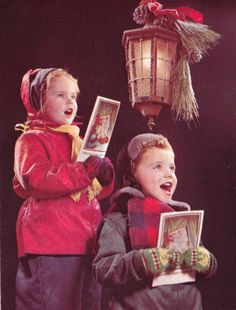 1950s kids singing christmas carols