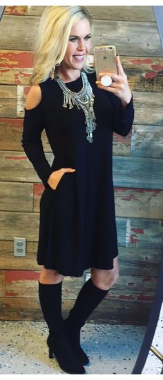 Casual For Fall Dress: Black from privityboutique