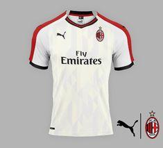AC Milan away concept Soccer Kits, Football Kits, College Football, Milan Wallpaper, European Soccer, Fc Chelsea, Club Shirts, Ac Milan, Fantasy Football