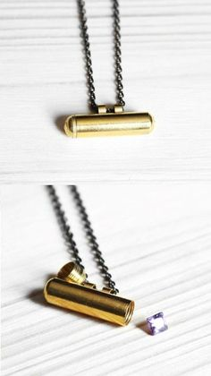 Capsule Necklace - top unscrews to store little treasures or love notes $25