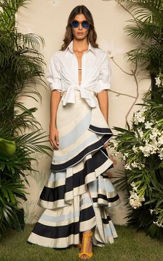 Sew it Yourself: Use VOGUE 9173, adding an additional ruffle. https://voguepatterns.mccall.com/v9173Johanna Ortiz Resort 2017 | Preorder at Moda Operandi