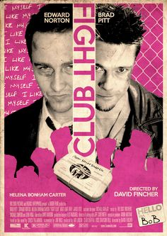 Alternative Fight Club Poster on Behance Fight Club 1999, Fight Club Rules, Tyler Durden, Old Film Posters, Cinema Posters, Old Movies, Indie Movies, David Fincher, Fight Club
