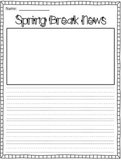 A *Spring Break* Freebie - For the Love of First Grade