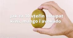 Jak za 30 vteřin oloupat kiwi, mango i avokádo Kiwi, Mango, Fruit, Food, Manga, Essen, Meals, Yemek, Eten