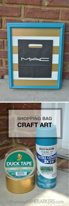 This shopping bag art tutorial is a great DIY project and is super easy! Spice up your home decor with this unique craft.