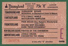 Vintage Disneyland Tickets: March 2013