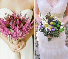 Nos encantan los ramos de novia con flores campestres. ¿Y a ti?