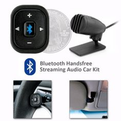@ShopAndThinkBig.com - Driving While Talking On The Phone Is A Dangerous Combination, But Now You No Longer Have To Take That Risk With The Scosche Universal Bluetooth Handfree And Streaming Audio Car Kit. This Kit Allows You To Set Up Your Car So You Can Receive Calls And Stream Audio Through Your Car's Factory Speakers, All By Using Your Phone's Bluetooth. The System Will Voice-Announce The Caller Id Of Incoming Calls, Automatically Mute Any Source When A Call Is Received, Pair With Your…