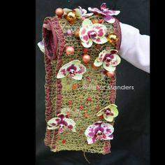kerst-bruidsboeket 'kerst-mof' gehaakt draad