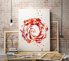 Red rose - Watercolor art print - abstract poster - illustration -Digital wall art Print - painting - Home decor by WatercolorMary on Etsy https://www.etsy.com/listing/268606512/red-rose-watercolor-art-print-abstract