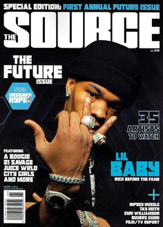 """Ushering in the Future Issue era are two cover stars: Atlanta's Lil Baby and New York City rising star A Boogie wit da Hoodie. For those who have flipped the pages of The Source for years or took it as a personal duty as a Hip-Hop fan to do their Googles, a pillar of our historic run is the """"Unsigned Hype"""" section. The Future Issue is an expansion of that section and pointing you toward who will be the ones that will own a permanent position on Billboard and Apple charts, check a bag with impact Source Magazine, Vibe Magazine, Rap Singers, Rap Wallpaper, Iphone Wallpaper, Spiderman Movie, Boogie Wit Da Hoodie, Lil Durk, Cute Celebrities"""