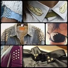 Resultado de imagen para campera de jean con tachas Clothing Hacks, Military Fashion, Pink Fashion, Ripped Jeans, Girly Things, Fall Outfits, Cool Style, Sewing Patterns, Creations