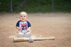 First birthday photo session! Baseball theme! © Crisam Park Photography