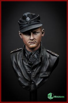Tiger Ace Michael Wittman, 1/9 scale bust from MJK Miniatures, now in stock!