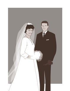the newlyweds,  Monique and Michel 60's by macadam