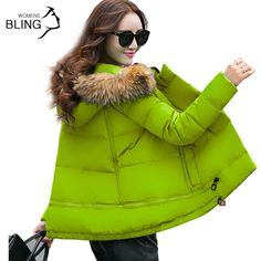Thickening Parkas Warm Winter Jacket Women Fur Collar Style Women's Long Down Plus Size Hoodies Coat Woman Classical Fashion