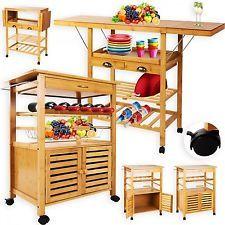 Kesser® Bamboo Kitchen Carrello ✓ armadio da cucina ✓ trolley ✓bambù | 2 modelli