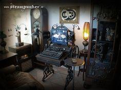 Steampunk Computer, Steampunk Room by steamworker.deviantart.com on @deviantART