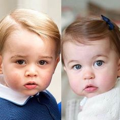 Prince George and Princess Charlotte just a few weeks before her first birthday✨