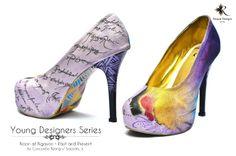 "Noon at Ngayon / Past and Present by Concordio ""Wang-u"" Sajorda Jr. Young Designers, Pumps, Heels, Custom Shoes, Jr, Christian Louboutin, Peep Toe, Hand Painted, Fashion"