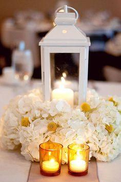 Centre de table lanterne blanche « Inspire Moi // Le blog mariage carrément déco