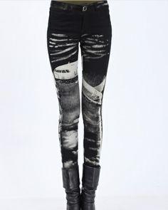 Fashion Splicing render cowboy feet  -Jeans   Jeans_BT (Black) Jeans from stylishplus.com