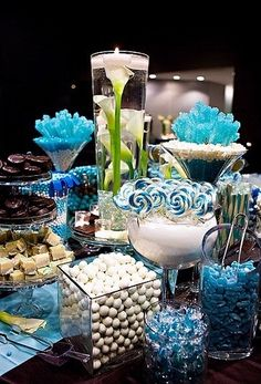 """Candy bar...cute! Could make it all """"color-themed"""" to whatever party you're having!"""