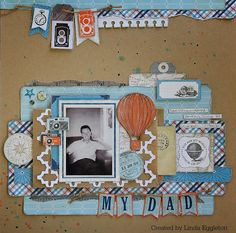 Lou's World: Last layout with Echo Park - Jack & Jill, for All About Scrapbooks
