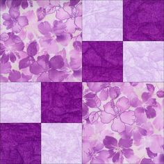 This quilt kit features beautiful lilac, plum and purple fabric prints in this easy to sew beginner pre-cut quilt kit that uses the double four patch block pattern. You can make a gorgeous baby quilt,