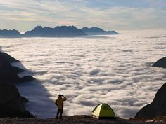 Trentino Alto Adige - Un mare di nuvole - Traveller Cards