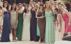 Bride and bridesmaids of my wedding #Luisjadri  @Cosasinnecesarias