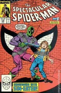 Spectacular Spider-Man (1976 1st Series) 136 Marvel Comics Peter Parker Comic book covers Super Heroes Villians Amazing Astonishing silver bronze modern age
