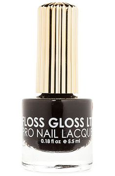 The Nail Lacquer in Black Holy by Floss Gloss