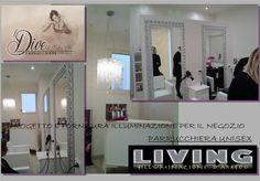 """progetto e fornitura per negozio di parrucchiera """"LE DIVE"""" a Provincia di RIMINI"""