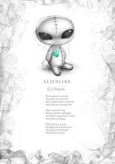 G Alienling's poem. Every Frightlings character comes with it's own spooky poem.